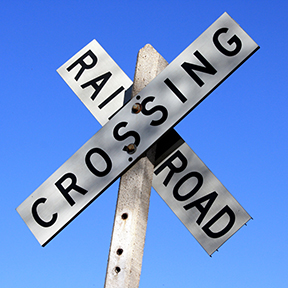 railroad crossing sign small